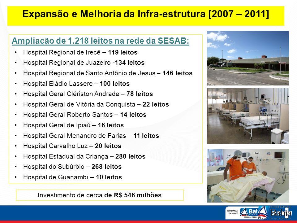 Expansão e Melhoria da Infra-estrutura [2007 – 2011]